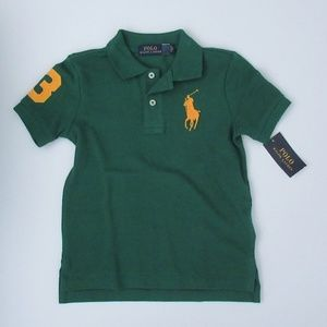 NWT Ralph Lauren SS Big Pony Mesh Polo Shirt